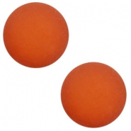 12 mm classic Polaris Elements cabochon matt Warm Orange