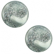 12 mm flat Polaris Elements cabochon Stardust Chinois Green Grey