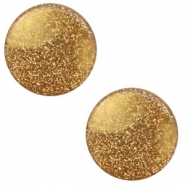 12 mm flat Polaris Elements cabochon Stardust Camel Brown