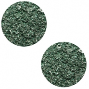 12 mm flat Polaris Elements cabochon Goldstein Dark Classic Green