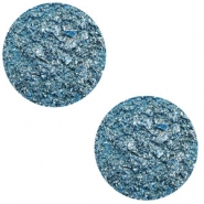 12 mm flat Polaris Elements cabochon Goldstein Harbour Blue