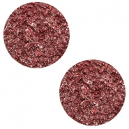 12 mm flat Polaris Elements cabochon Goldstein Warm Red