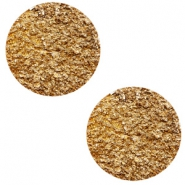 12 mm flat Polaris Elements cabochon Goldstein Camel Brown