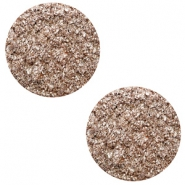 12 mm flat Polaris Elements cabochon Goldstein Taupe Brown