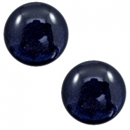 12 mm classic Polaris Elements cabochon Lively Intense Dark Blue