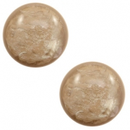 12 mm classic Polaris Elements cabochon Lively Colonial Brown