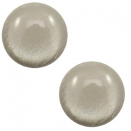 12 mm classic Polaris Elements cabochon soft tone shiny Warm Grey