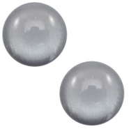 12 mm classic Polaris Elements cabochon soft tone shiny Gallant Grey