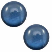 20 mm classic Polaris Elements cabochon soft tone shiny Dark Blue