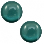 12 mm classic Polaris Elements cabochon soft tone shiny Deep Teal Blue