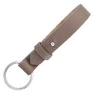 Cuoio key chain Deep Greige Brown