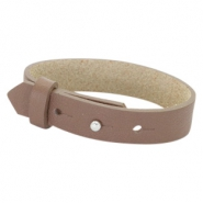 Cuoio bracelets leather 15 mm for 20mm cabochon Medium Brown