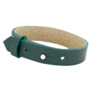 Cuoio bracelets leather 15 mm for 20mm cabochon Forrest Green