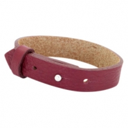 Cuoio bracelets leather 15 mm for 20mm cabochon Tawny Port Red