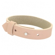 Cuoio bracelets leather 15 mm for 20mm cabochon Blush Pink
