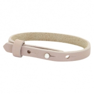 Cuoio bracelets leather 8mm for 12mm cabochon Rose Taupe