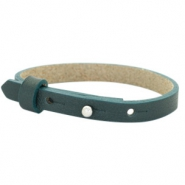 Cuoio bracelets leather 8mm for 12mm cabochon Forrest Green