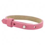 Cuoio bracelets leather 8mm for 12mm cabochon Peonia Pink