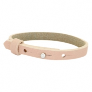 Cuoio bracelets leather 8mm for 12mm cabochon Blush Pink
