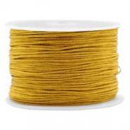 Macramé bead cord 1.0mm Mustard Brown
