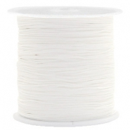 Macramé bead cord 0.5mm White