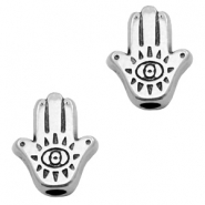 DQ European metal beads Hamsa hand Antique Silver (nickel free)