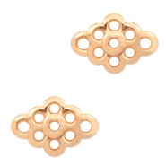 DQ European metal charms connector flower Rose Gold (nickel free)