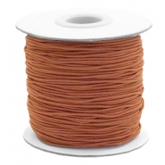 Coloured elastic cord 1mm Copper Brown