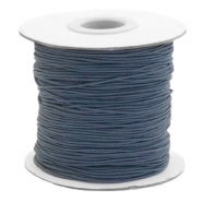 Coloured elastic cord 1mm Anthracite Grey