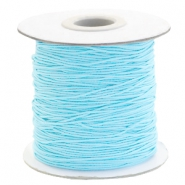 Coloured elastic cord 1mm Light Turquoise Blue