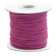 Coloured elastic cord 1mm Aubergine Purple