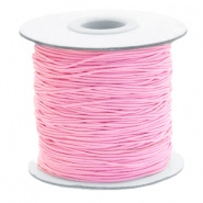 Coloured elastic cord 1mm Pink