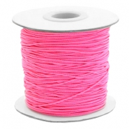 Coloured elastic cord 1mm Fluor Rose