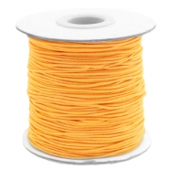 Coloured elastic cord 1mm Sunflower Orange