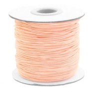 Coloured elastic cord 1mm Light Peach