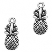Metal charms pineapple Antique Silver