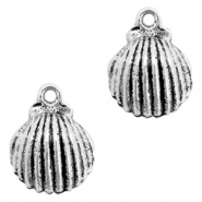 Metal charms shell Antique Silver