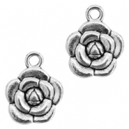 Metal charms rose Antique Silver