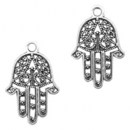 Metal charms Hamsa hand Antique Silver