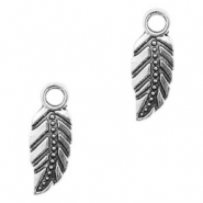 Metal charms leaf Antique Silver