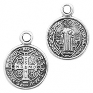 Metal charms coin 11mm Antique Silver