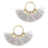 Tassels charm Gold-Light Grey