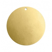 ImpressArt stamping blanks charms round 22mm Brass Light Gold