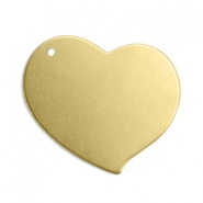 ImpressArt stamping blanks charms heart 18mm Brass Light Gold
