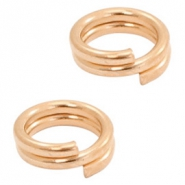DQ European metal findings split ring 5mm Rose Gold (nickel free)
