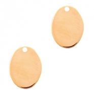 Designer Quality metal for ImpressArt charm oval 14x10mm Rose Gold (nickel free)