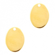 Designer Quality metal for ImpressArt charm oval 14x10mm Gold (nickel free)
