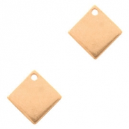 Designer Quality metal for ImpressArt charm square 10mm Rose Gold (nickel free)