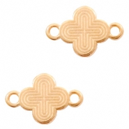 DQ European metal charms connector cross Rose Gold (nickel free)
