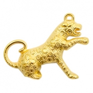 DQ European metal charms leopard Gold (nickel free)